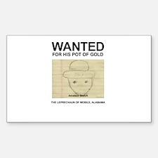 The Original Wanted Leprechaun Decal