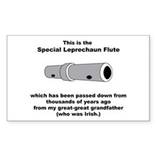 The Special Leprechaun Flute Rectangle Decal