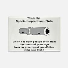The Special Leprechaun Flute Rectangle Magnet