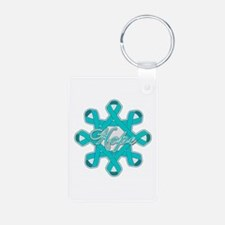 Ovarian Cancer Ribbons Keychains
