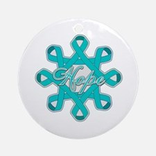 Ovarian Cancer Ribbons Ornament (Round)