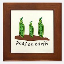 Peas on Earth Framed Tile