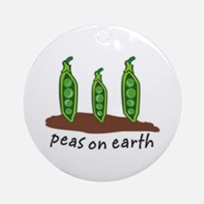 Peas on Earth Ornament (Round)