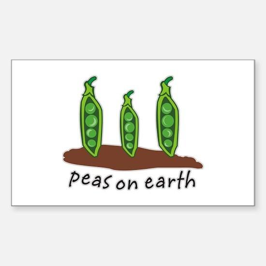 Peas on Earth Sticker (Rectangle)