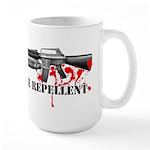 Zombie Repellent Dark Shirts Large Mug