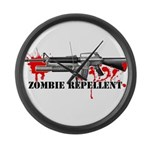 Zombie Repellent Dark Shirts Large Wall Clock