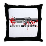 Zombie Repellent Dark Shirts Throw Pillow