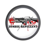 Zombie Repellent Dark Shirts Wall Clock