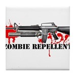 Zombie Repellent Dark Shirts Tile Coaster