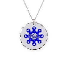 Colon Cancer Ribbons Necklace Circle Charm