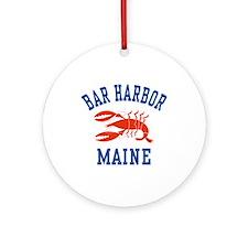 Bar Harbor Maine Ornament (Round)