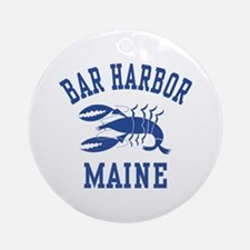 Bar Harbor Maine Ornament (Round)