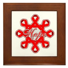 Blood Cancer Ribbons Framed Tile
