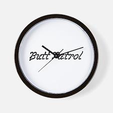 Butt Patrol Wall Clock
