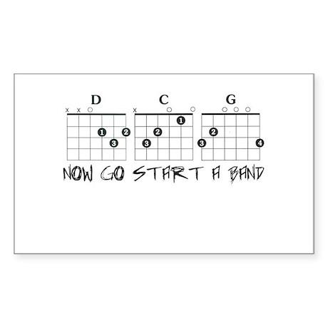 Now Start a Band Sticker (Rectangle)