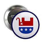 Dead Republican Elephant Button