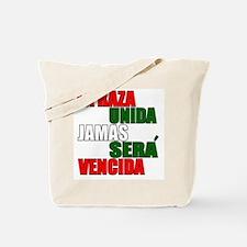 LA RAZA UNIDA JAMAS WHT Tote Bag