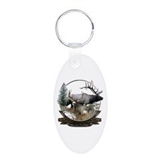 Big Game Elk and Deer Aluminum Oval Keychain