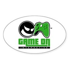 Game On Oval Decal