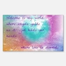 """Welcome to my world!"" Rectangle Decal"