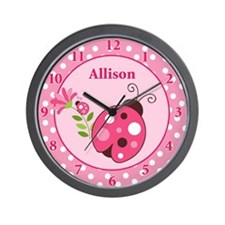 Ladybug Garden Wall Clock - Allison