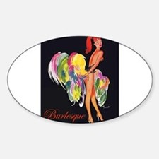 Cute Burlesque Sticker (Oval)