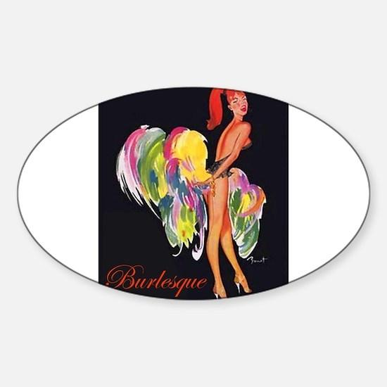 Cute Pole dance Sticker (Oval)