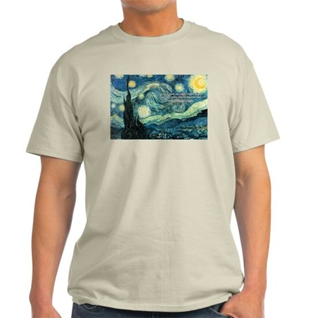 Starry Night Vincent Van Gogh Ash Grey T-Shirt