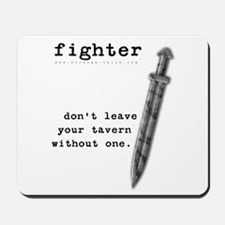 Fighter's Sword Mousepad