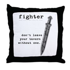 Fighter's Sword Throw Pillow