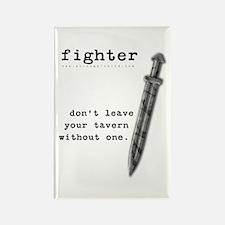 Fighter's Sword Rectangle Magnet
