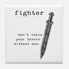 Fighter's Sword Tile Coaster