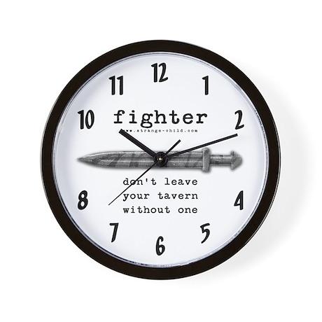 Fighter's Sword Wall Clock