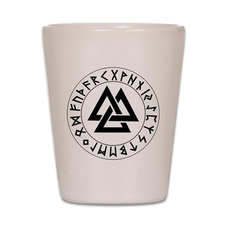 Triple Triangle Rune Shield Shot Glass