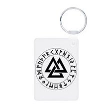 Triple Triangle Rune Shield Keychains
