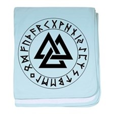 Triple Triangle Rune Shield baby blanket