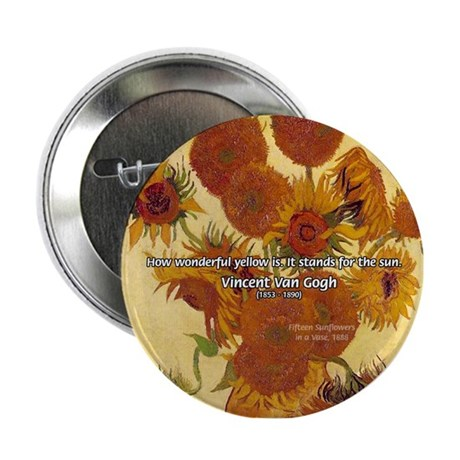 Van Gogh Painting & Quote Button