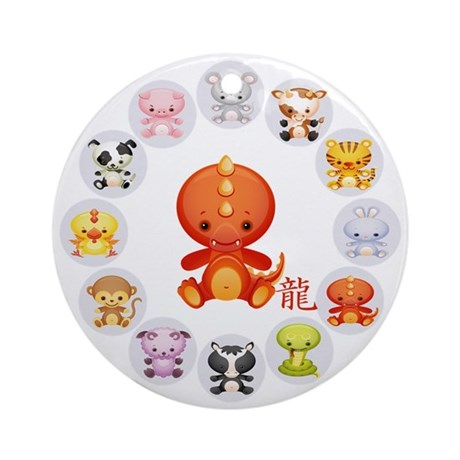 Cute Year of The dragon 2012 Ornament (Round)
