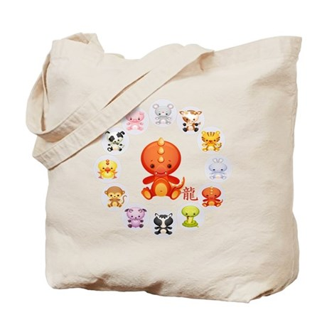 Cute Year of The dragon 2012 Tote Bag