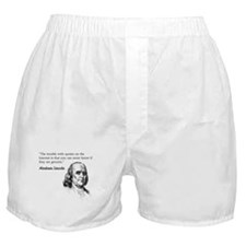 """""""The trouble with quotes on t Boxer Shorts"""