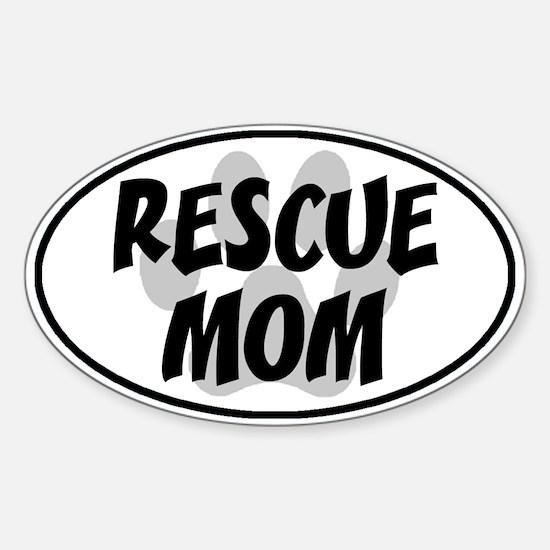 Rescue Mom White Oval Sticker (Oval)