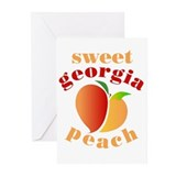 Georgia peach Greeting Cards (10 Pack)