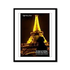 Art Architecture Eiffel Tower Framed Panel Print