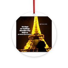 Art Architecture Eiffel Tower Ornament (Round)