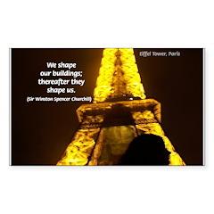 Art Architecture Eiffel Tower Sticker (Rectangular