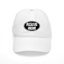 Rescue Mom Black Oval Baseball Cap