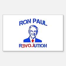 Ron Paul Revolution Sticker (Rectangle)