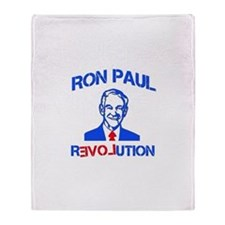 Ron Paul Revolution Throw Blanket