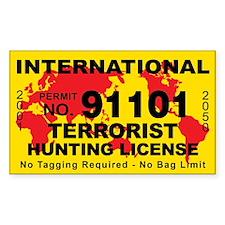 International Terrorist Hunting License Sticker St