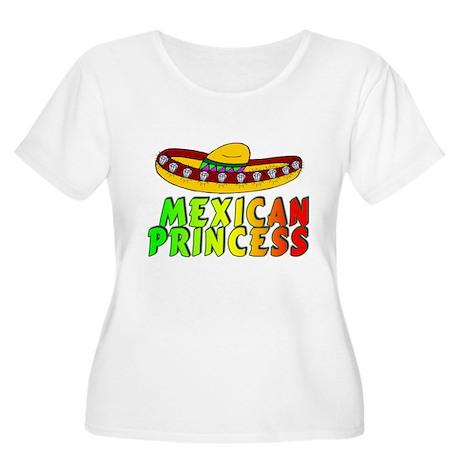 MEXICAN PRINCESS Women's Plus Size Scoop Neck T-Sh